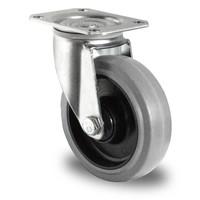 Rodízio direcional, diâmetro de 125mm, Rolamento de esferas, PA/borracha