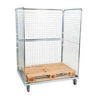 Roll container, 3 laterais, para Europaletes, 1350x950x1820mm