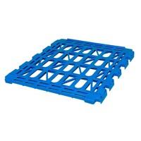 Prateleira em plástico para roll container com 3 laterais, capacidade de carga de 150 kg