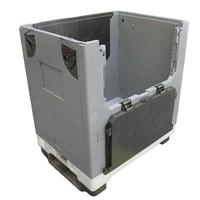 Contentor rebatível, com rodízios, Pally Magnum, 280 l, 800x600x910mm
