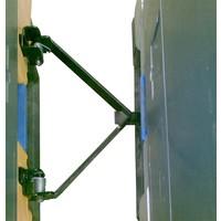 Sistema de acoplamento para palete de plástico com rodízios, modelo Pally