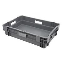Caixa encaixável, fechada, 34 litros, 600x400x187mm