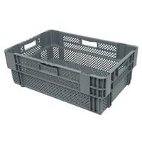 Caixa encaixável, perfurada, 38 litros, 600x400x205mm