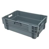 Caixa encaixável, fechada, 38 litros, 600x400x205mm