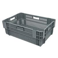 Caixa encaixável, perfurada, 47 litros, 600x400x245mm