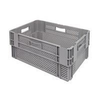 Caixa encaixável, perfurada, 60 litros, 600x400x320mm