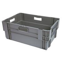Caixa encaixável, fechada, 60 litros, 600x400x320mm
