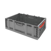 Caixa de plástico, fechada, rebatível, 40 l, 600x400x221mm