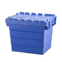 Caixa de plástico, encaixável, tampa articulada,  400x300x320mm