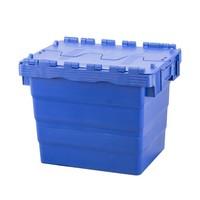 Caixa de plástico, encaixável, tampa articulada,  400x300x365mm