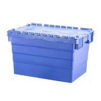 Caixa de plástico, encaixável, tampa articulada, 600x400x365mm
