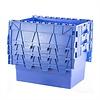 Caixa de plástico, 77 l, empilhável, encaixável, tampa articulada, 600x400x416mm