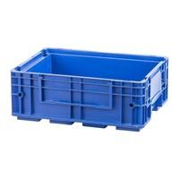 Caixa de plástico empilhável RL-KLT 4315, base fechada com nervuras, 396x297x147,5mm