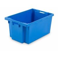 Caixa de plástico encaixável, fechada, 50 litros, 600x400x300mm