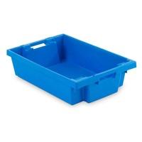 Caixa de plástico encaixável, fechada, 25 litros, 600x400x150mm
