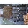 EPAL Gitterbox, nova, aba articulável de carregamento, norma DIN, 1240x835x970mm