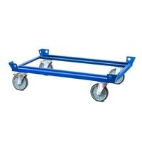 Dolly metálico para Gitterbox, 500 kg, Rodízios com travão, 1260x860x320mm