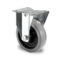 Rodízios fixos, diâmetro de 125mm, rolamento de esferas, PA / borracha