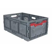 Caixa de plástico, perfurada, rebatível, 55 l, 600x400x260mm