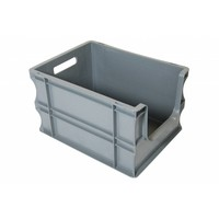 Caixa Euronorm, 20 litros, com pega aberta, 400x300x235mm