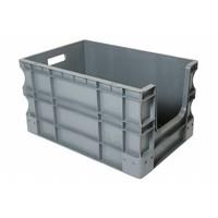 Caixa Euronorm, 65 litros, com pega aberta, 600x400x330mm