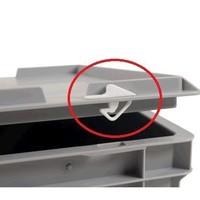 Selo de plástico de segurança e vedação para caixas empilháveis Euronorm