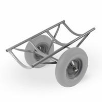 Matador Dolly para tapetes da Matador CT, cinza, rodas anti-furo