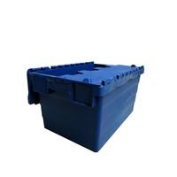 Caixa usada de plástico, encaixável, tampa articulada,  600x400x320mm