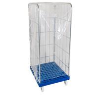 Cobertura plástico transparente, para Roll Containers com as dimensões 730x820x1650mm