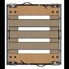 Rotom Roll container 800x680x1670mm – fundo de madeira