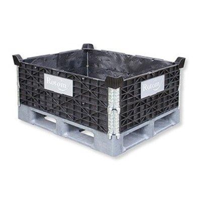 Colar de plástico para palete 1000x800mm - 4 dobradiças