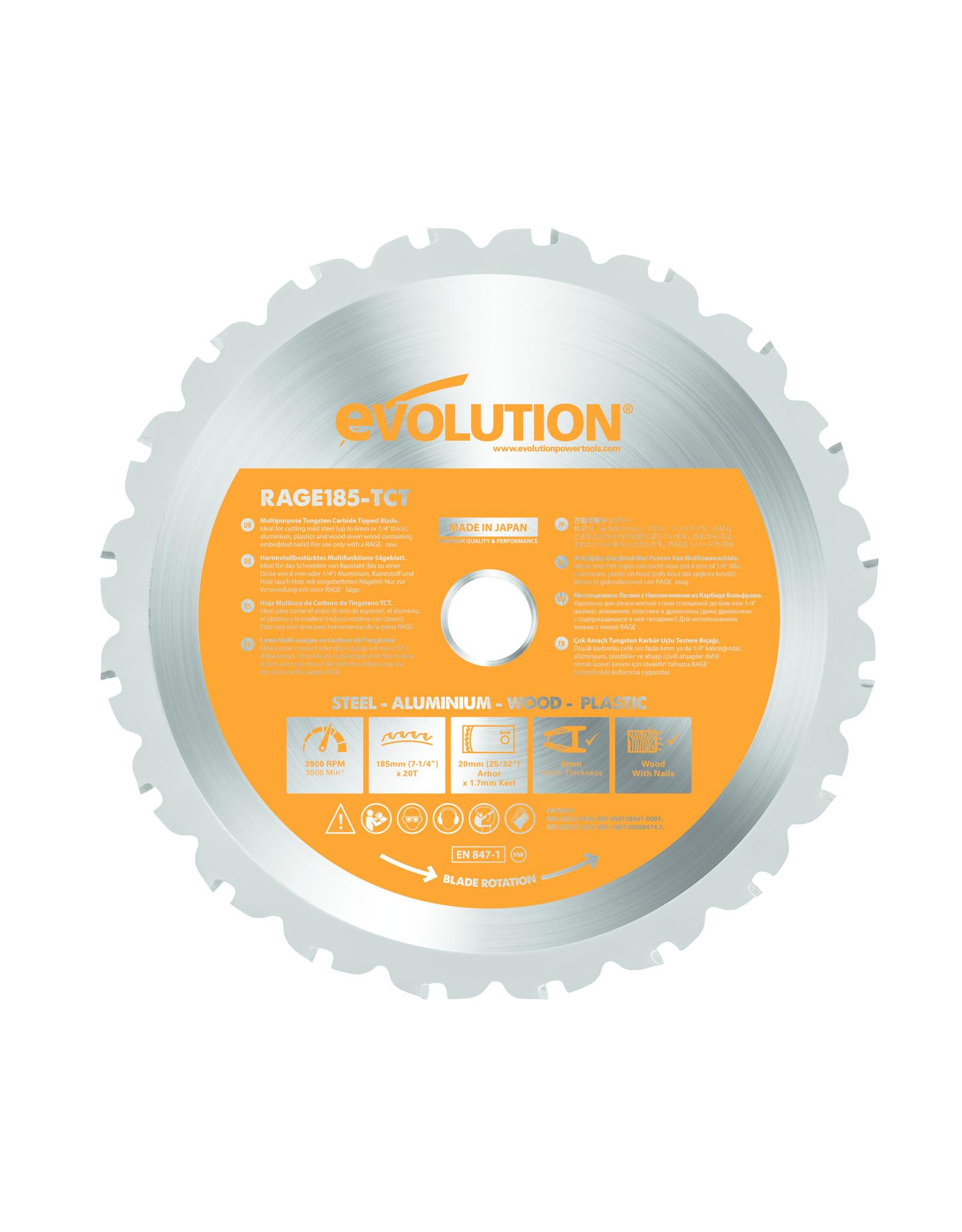 Evolution Power Tools Build Line LAME MULTIFONCTIONNELLE RAGE 185 MM