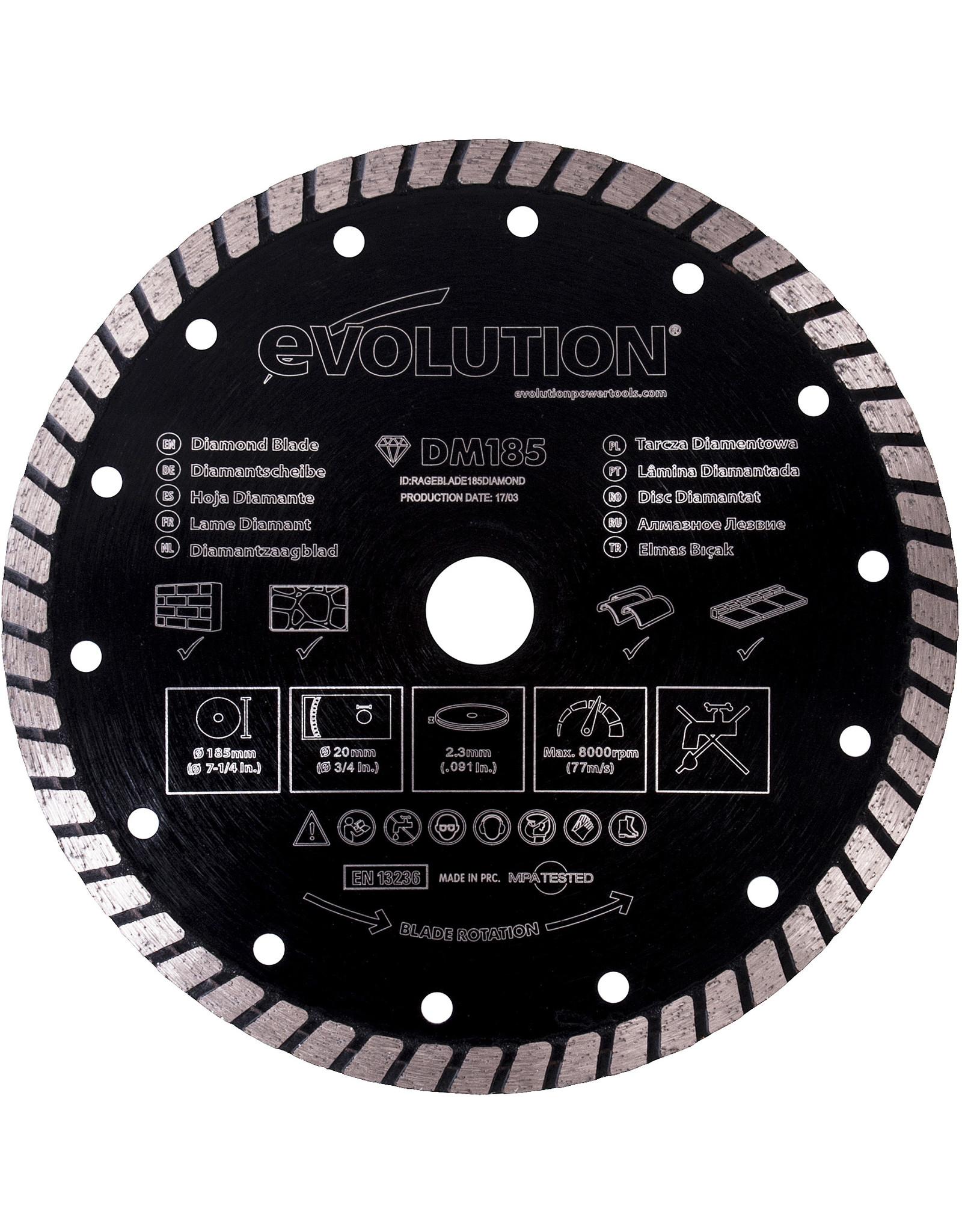 Evolution Power Tools Build Line DISQUE DIAMANTÉ RAGE 185 MM