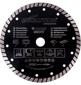 Evolution Power Tools Build Line Disque Diamanté Rage 185 mm
