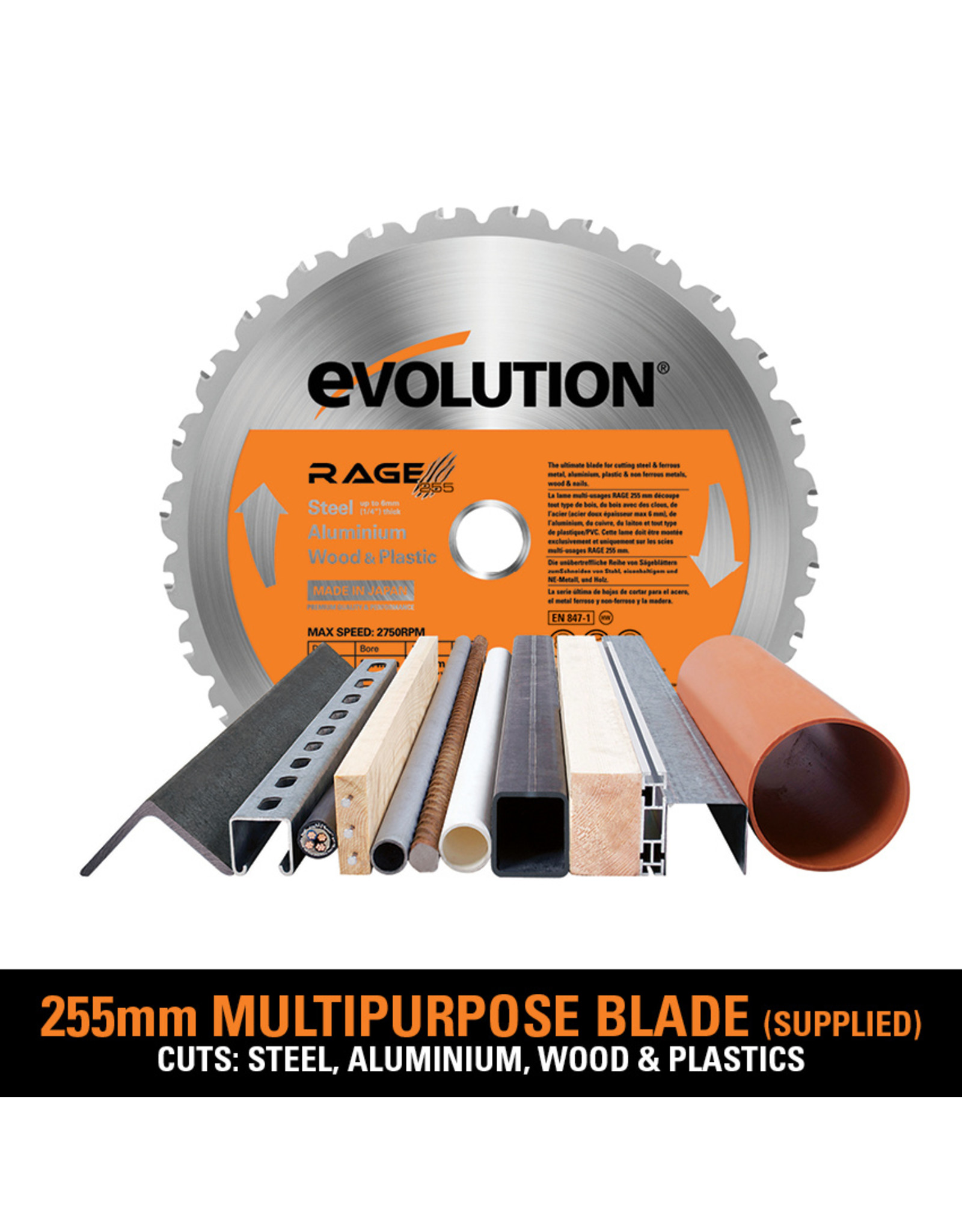 Evolution Power Tools Build Line TAFELZAAG RAGE 5-S