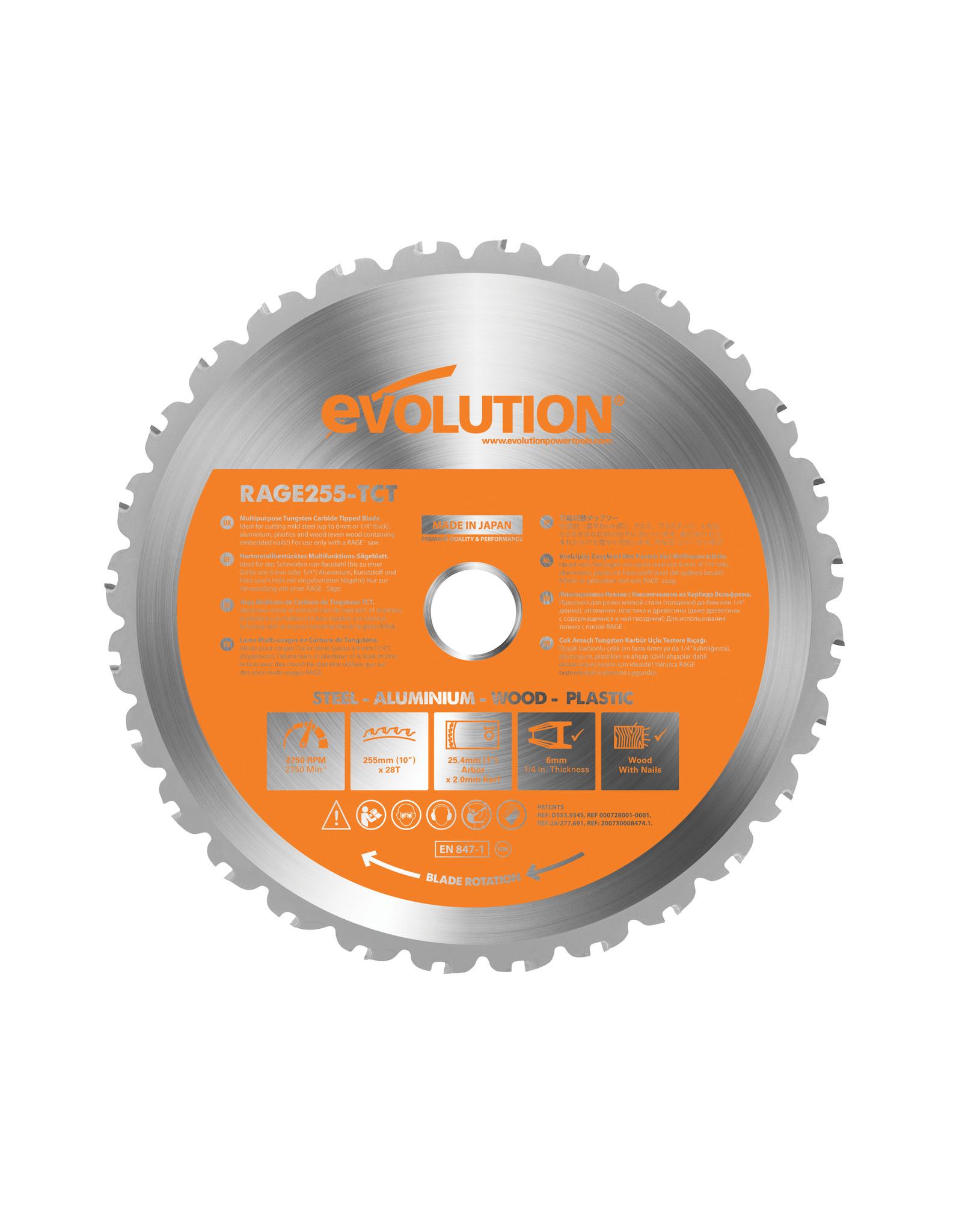Evolution Power Tools Build Line LAME MULTIFONCTIONNELLE RAGE 255 MM
