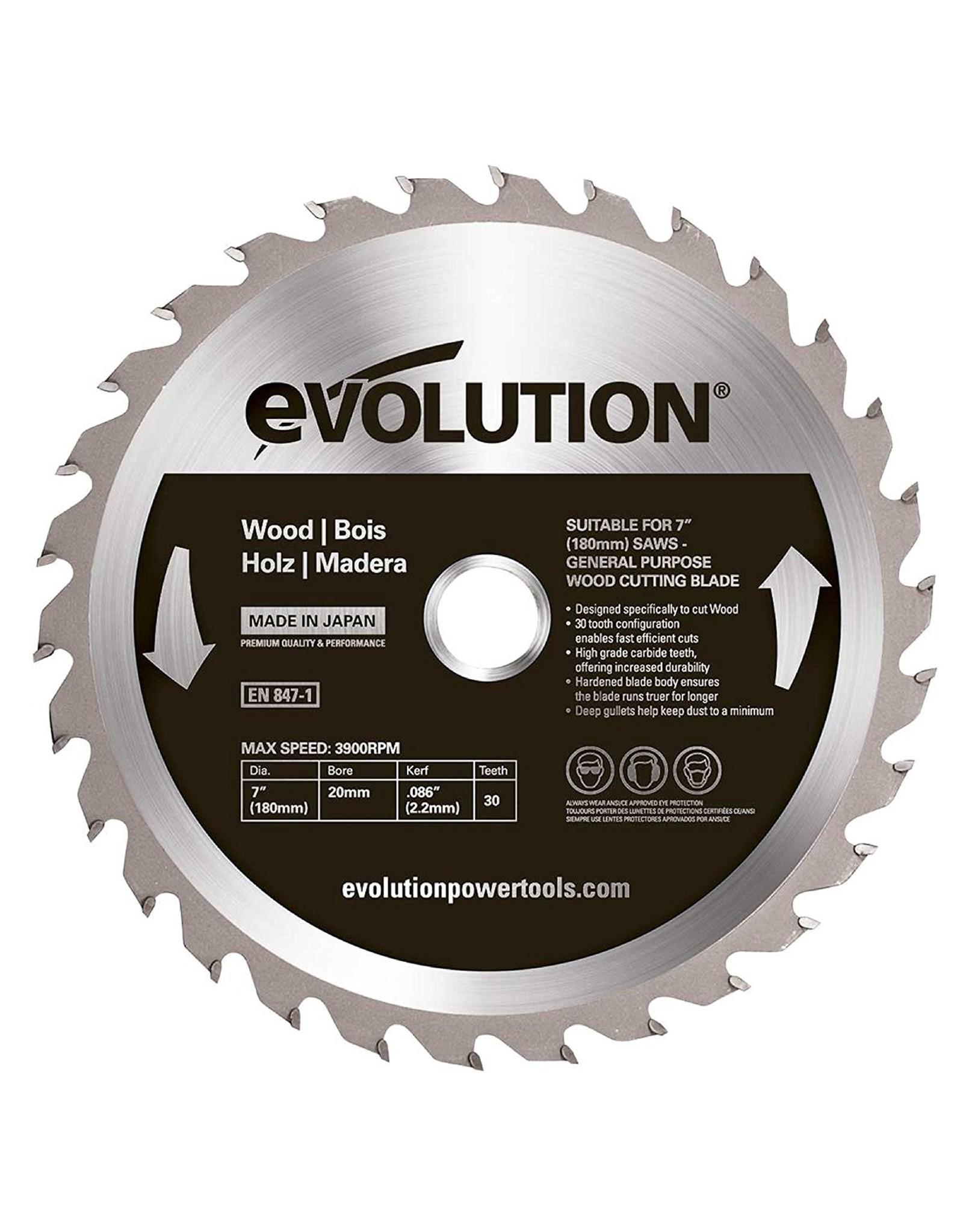 Evolution Power Tools Steel Line HOLZ KLINGE 180 MM