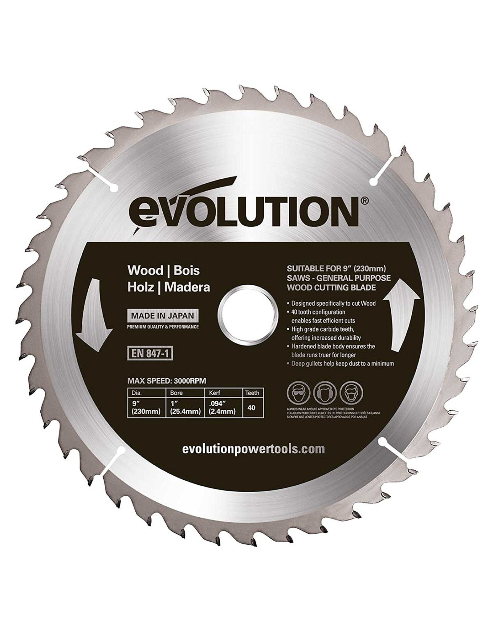 Evolution Power Tools Steel Line LAME BOIS 230 MM