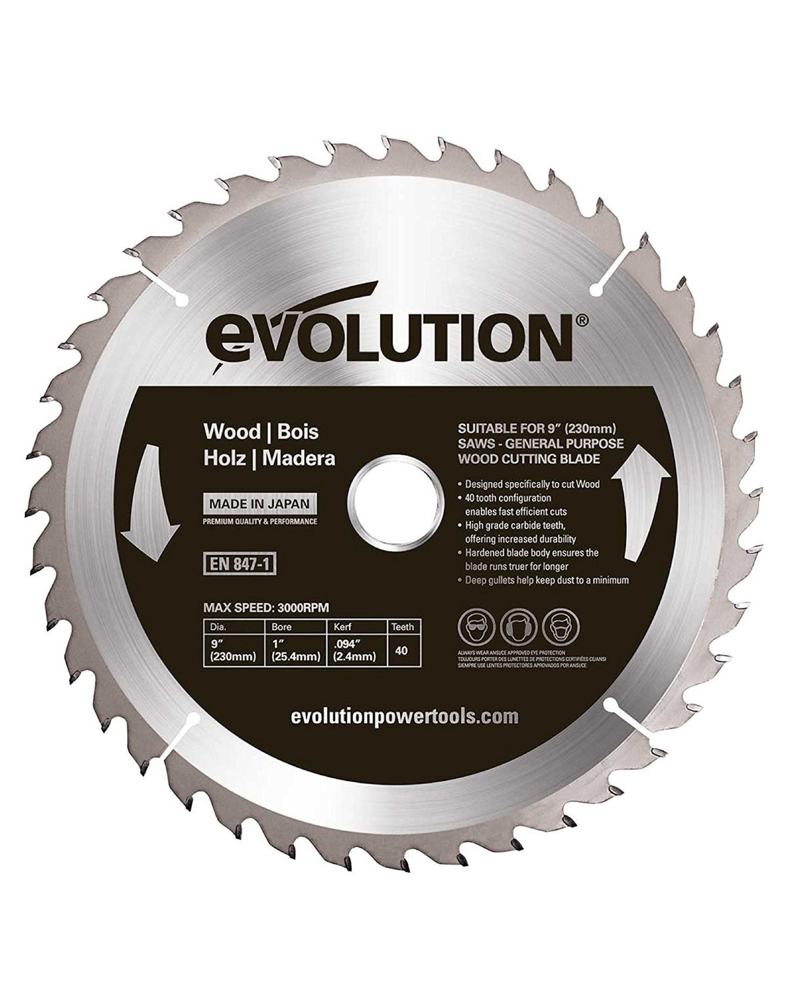 Evolution Power Tools Steel Line SAW BLADE WOOD 230 MM