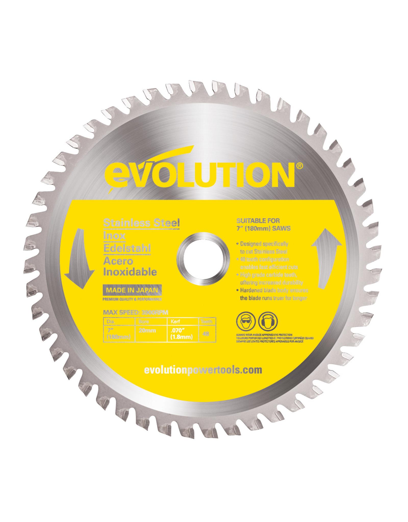 Evolution Power Tools Steel Line ROSTFREIER STAHL Klinge 180 MM