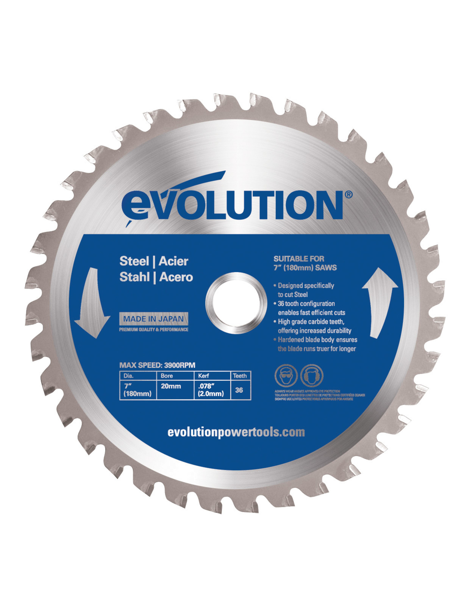 Evolution Power Tools Steel Line SAW BLADE STEEL 180 MM