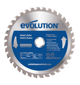 Evolution Power Tools Steel Line Lame Acier 180 mm