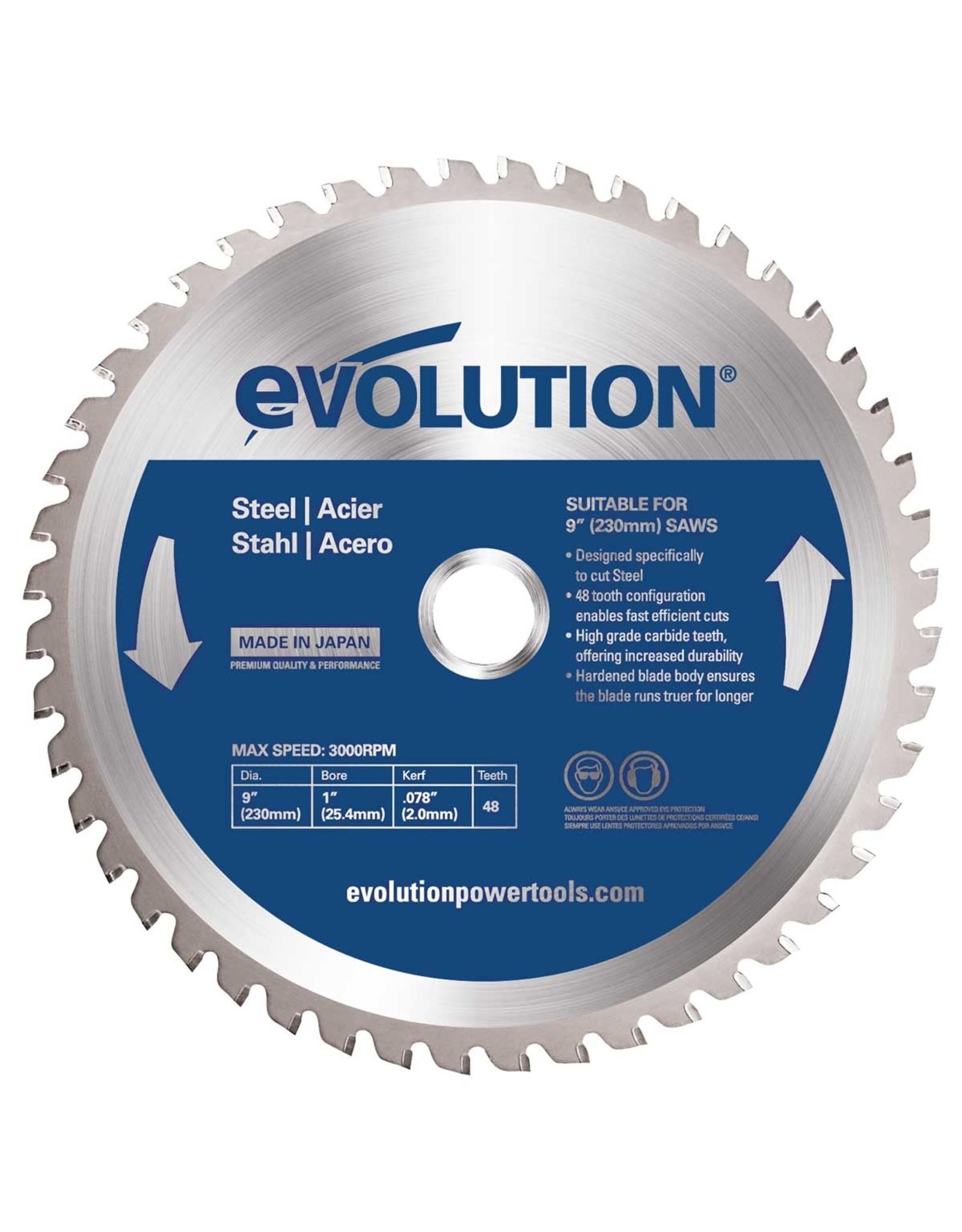Evolution Power Tools Steel Line ZAAGBLAD IJZER 230 MM