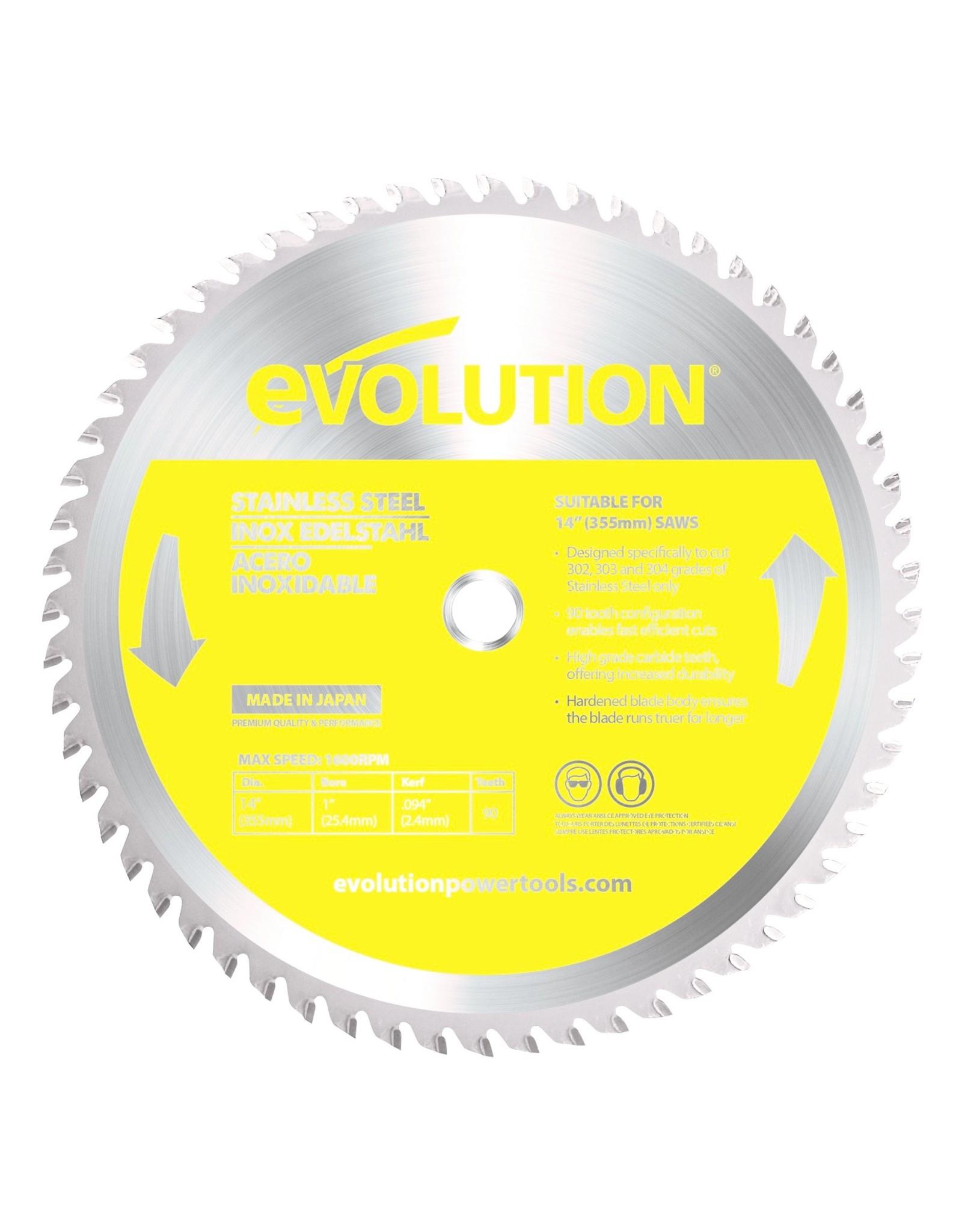 Evolution Power Tools Steel Line  ROSTFREIER STAHL KLINGE 355 MM