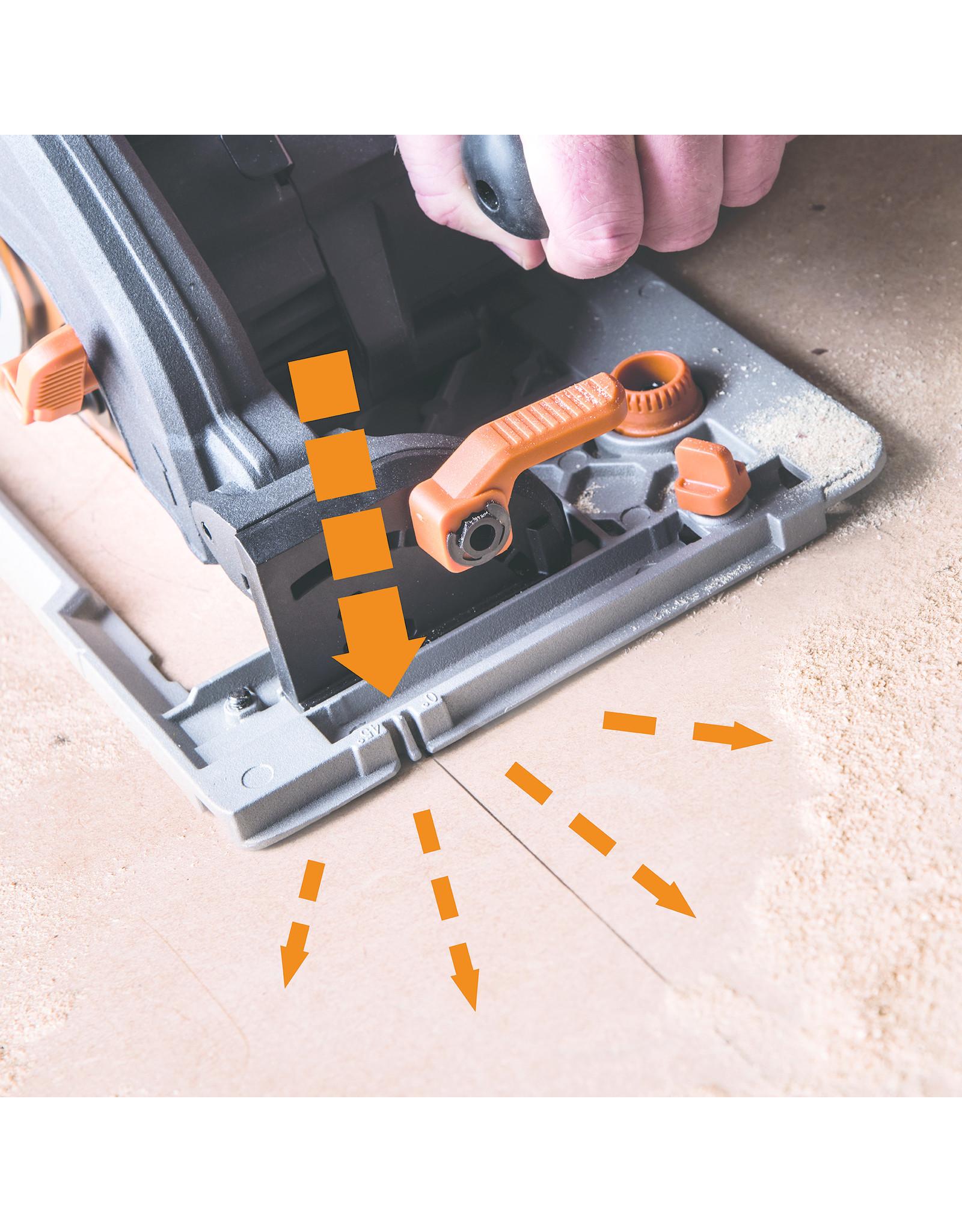 Evolution Power Tools Build Line SCIE CIRCULAIRE MULTIFONCTIONELLE RAGE R185 CCSX + 1 LAME GRATUITE