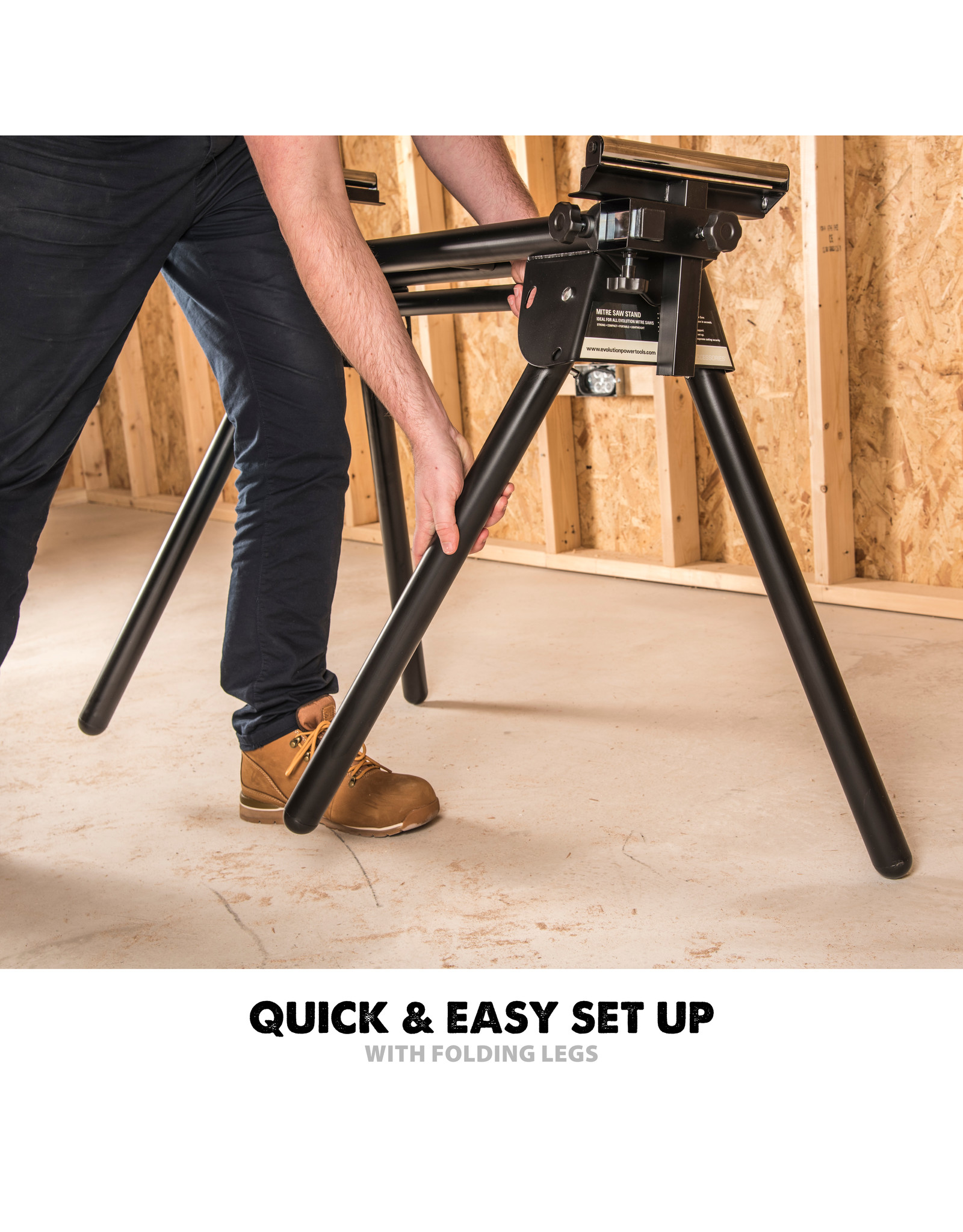 Evolution Power Tools Build Line MITRE SAW STAND