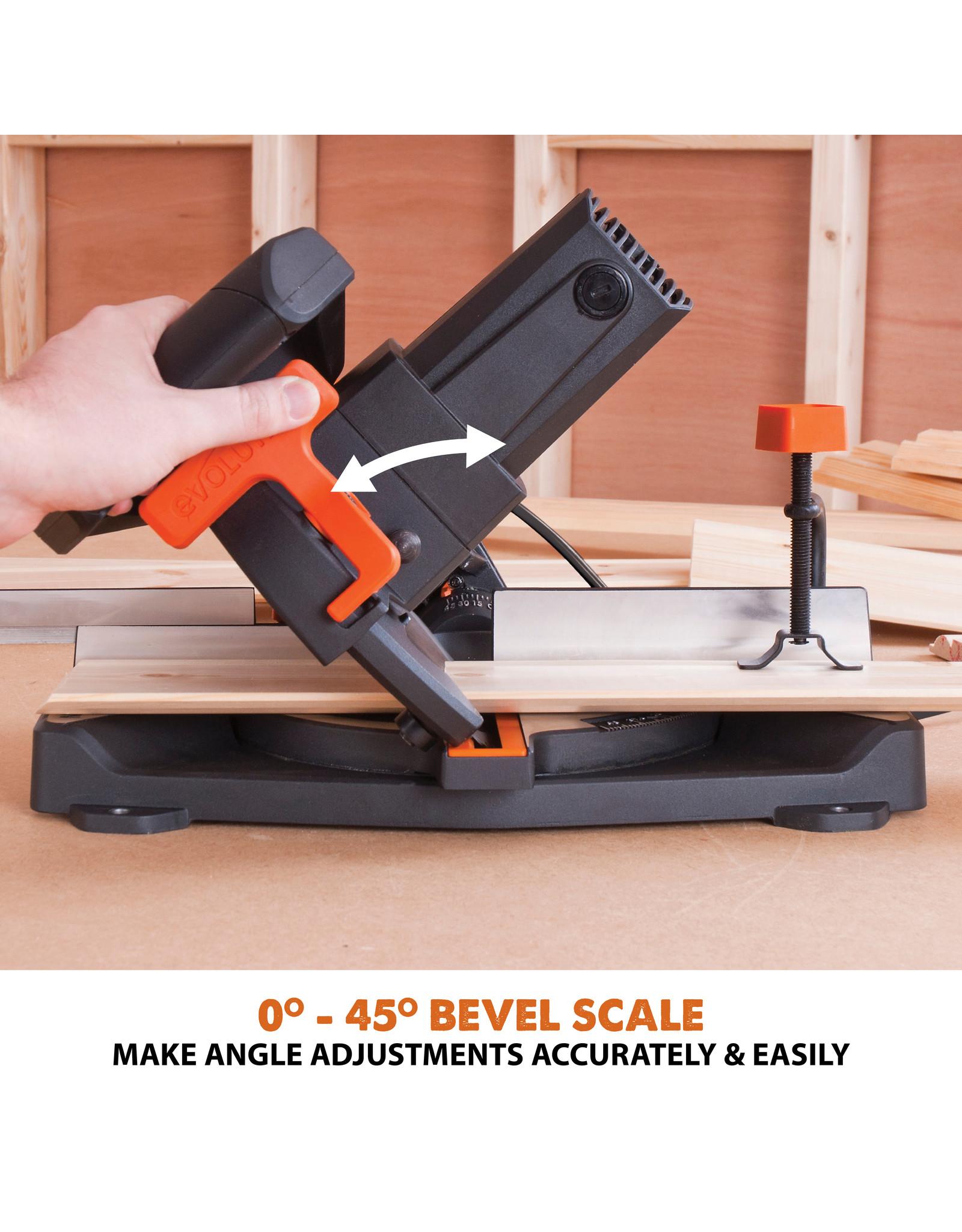 Evolution Power Tools Build Line VEELZIJDIGE VERSTEKZAAG RAGE R210 CMS + 1 GRATIS ZAAGBLAD