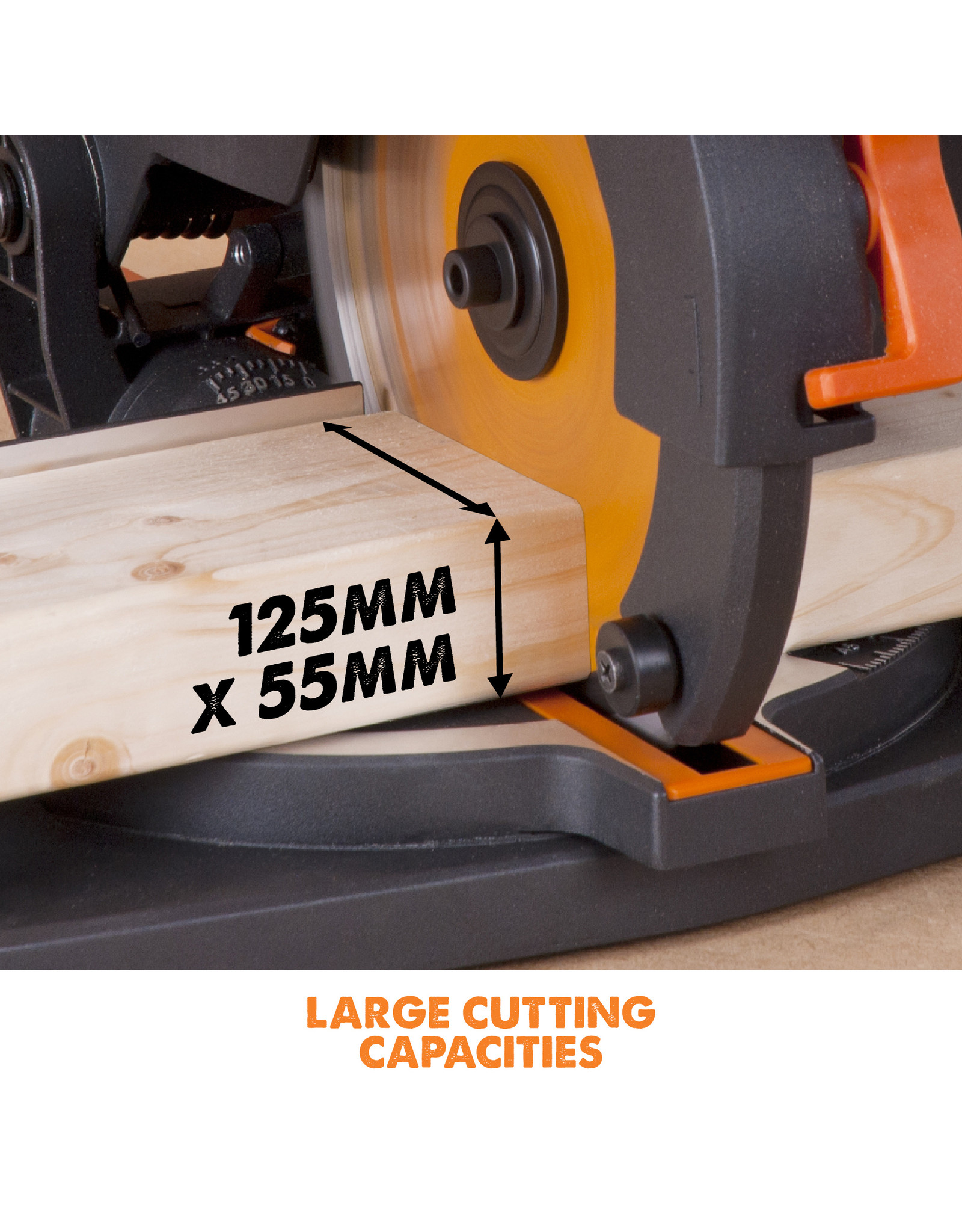 Evolution Power Tools Build Line MULTIFUNCTIONAL MITRE SAW RAGE 210 CMS + 1 FREE SAW BLADE