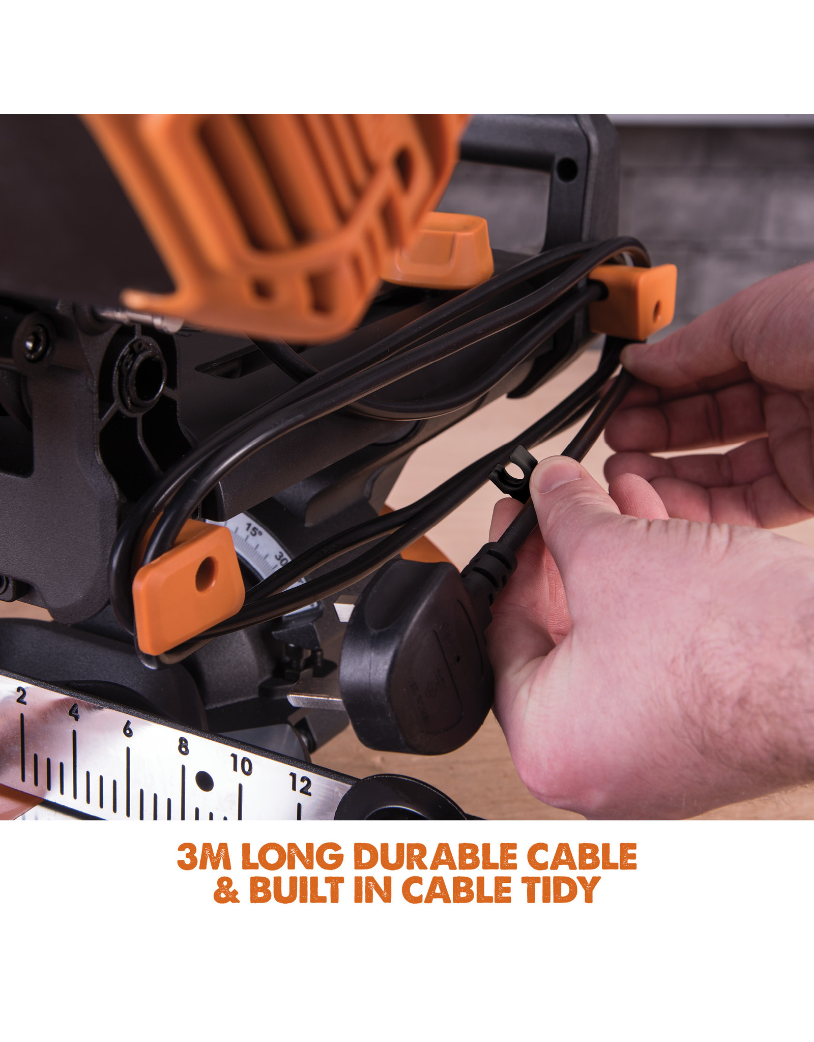 Evolution Power Tools Build Line SCIE A ONGLET COULISSANT R210 SMS+ + 1 LAME GRATUITE