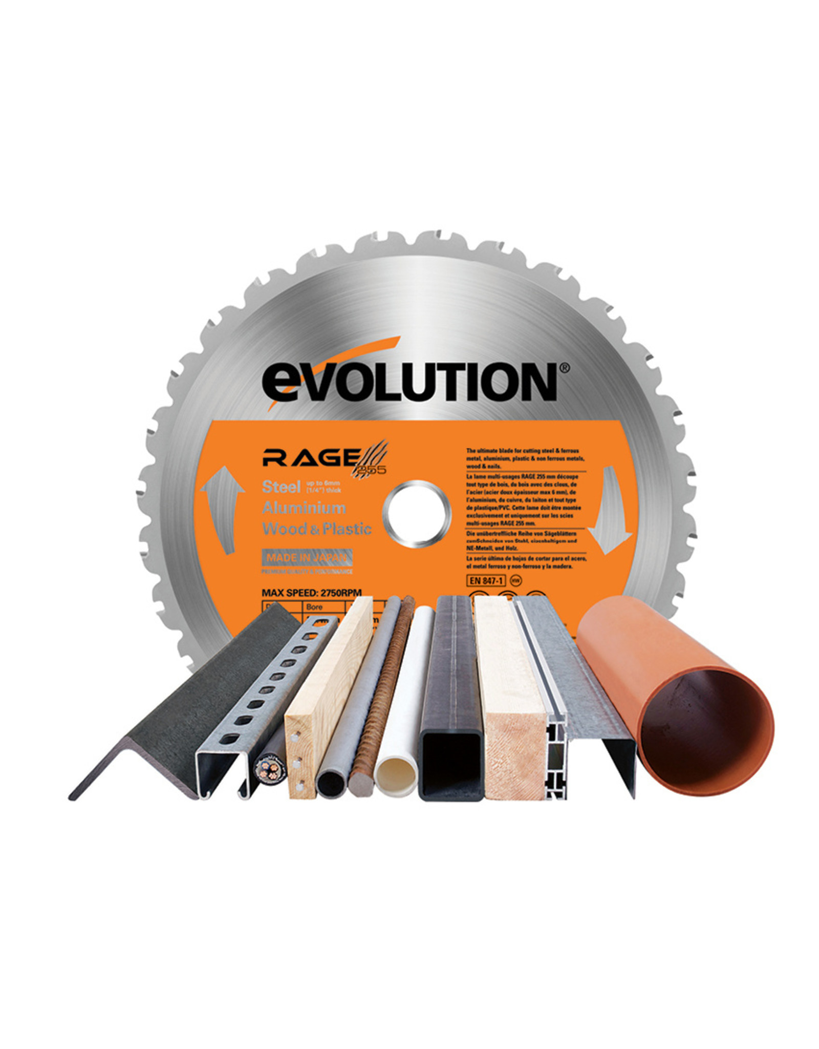 Evolution Power Tools Build Line TAFELZAAG RAGE 5-S + 1 GRATIS ZAAGBLAD